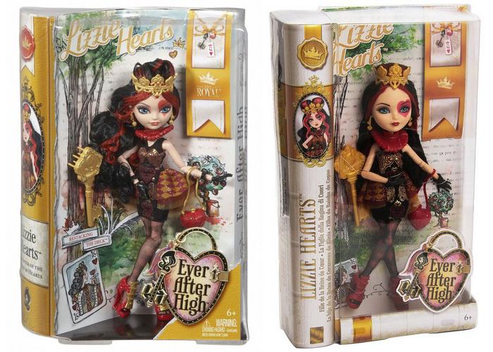 Сравнение перевыпуска базовой Лиззи Хартс с первым выпуском.