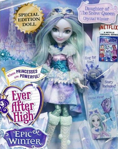 Кукла Кристал Винтер — новая героиня Эвер Афтер Хай из серии Epic Winter.