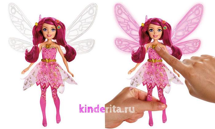 Кукла Мия со светящимися крыльями.