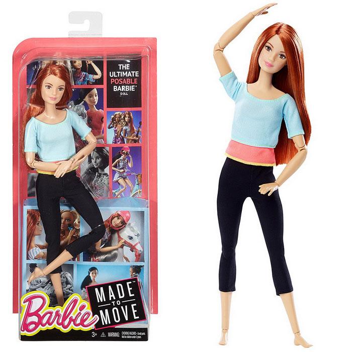 Рыжая Барби может принимать любые позы.