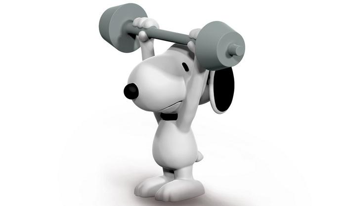 Спортивный пёс Снупи.