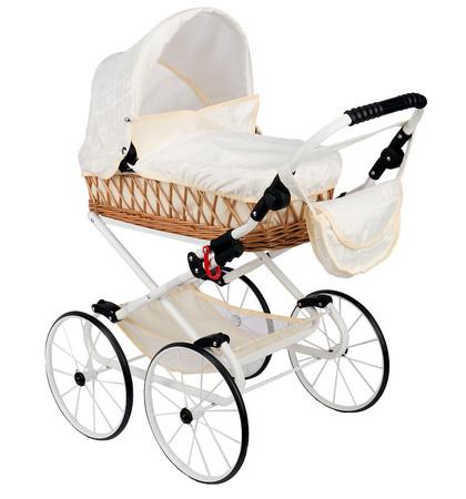 Кукольная коляска в ретро стиле Wakart Моника.
