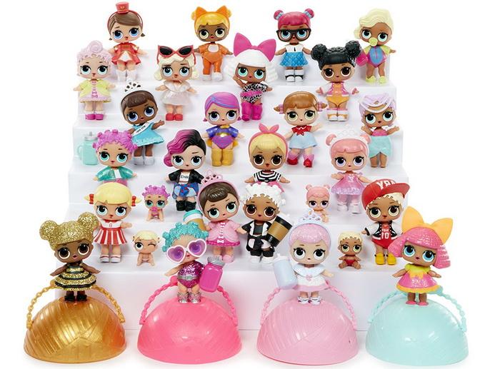 Куклы Лол из первого выпуска.