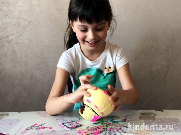 Распаковка шарика-сюрприза ЛОЛ Confetti POP.