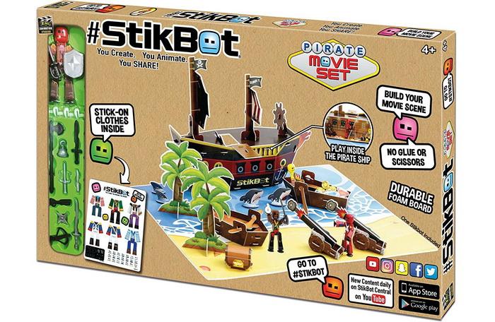 Пиратский корабль для стикботов.