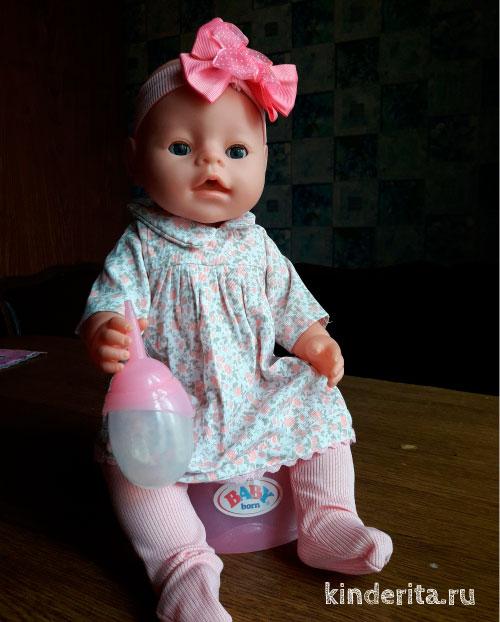 Кукла на горшке.