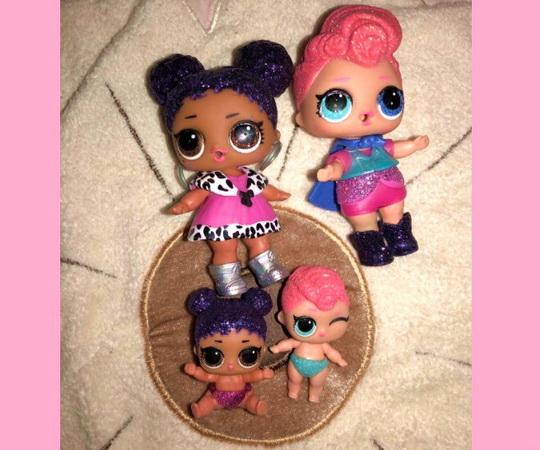 Блестящие куклы из большого шара ЛОЛ.