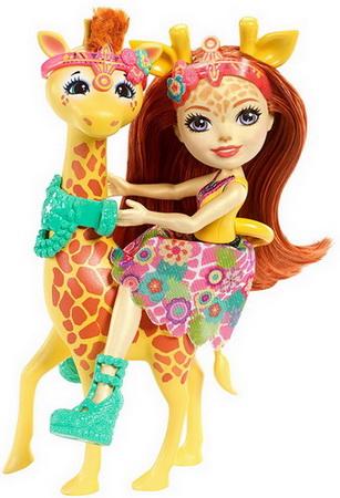 Джиллиан и жирафа.