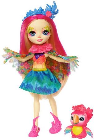 Куколка Пики и попугай.