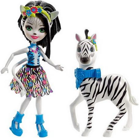 Кукла Зелина и зебра.