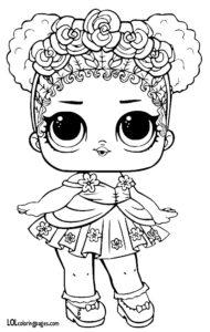 Цветочное дитя — раскраска куклы LOL.