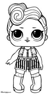 Куколка LOL негритянка в шортах.