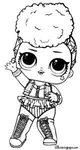 Кукла ЛОЛ Independent Queen чёрно-белая.
