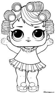 Кукла из шара сюрприза в бигудях.