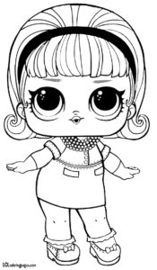 Скачать раскраску куклы ЛОЛ LOL Madame Queen.
