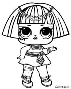ЛОЛ Фараон кукла раскраска.