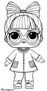 Кукла ЛОЛ в роли учёной.