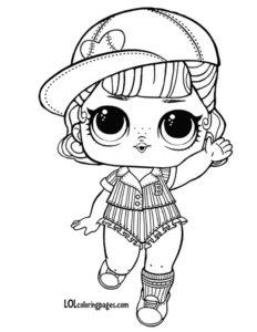 Раскраска для девочек с куклой Short Stop.