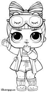 Кукла в чёрно-белой пижаме.