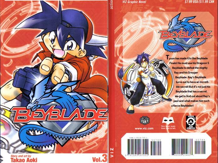 Обложка комиксов мангиBey Blade Burst.