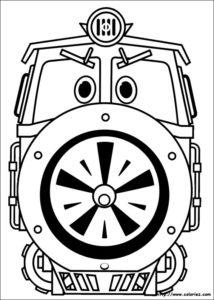 Трансформер паровоз Виктор.