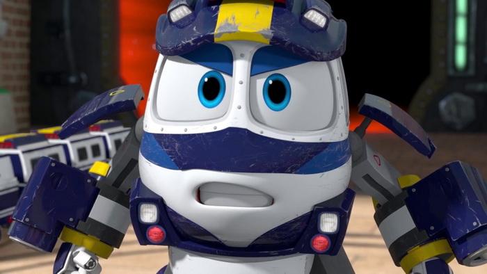 Картинка робота-поезда Кея с ютуба.