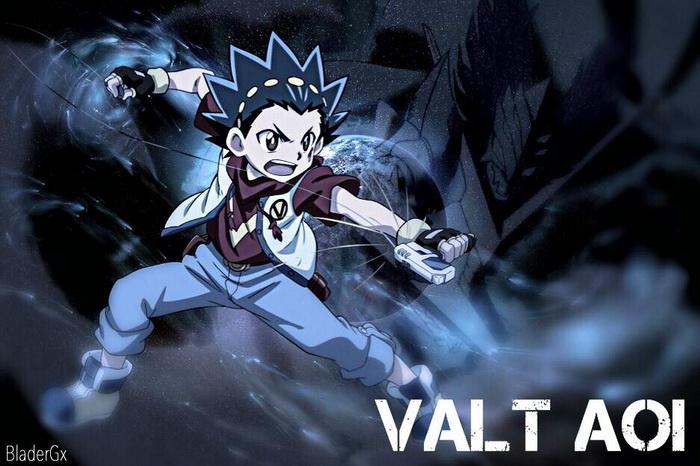 Valt Aoi — главный герой мультика Бэйблейд бердс.