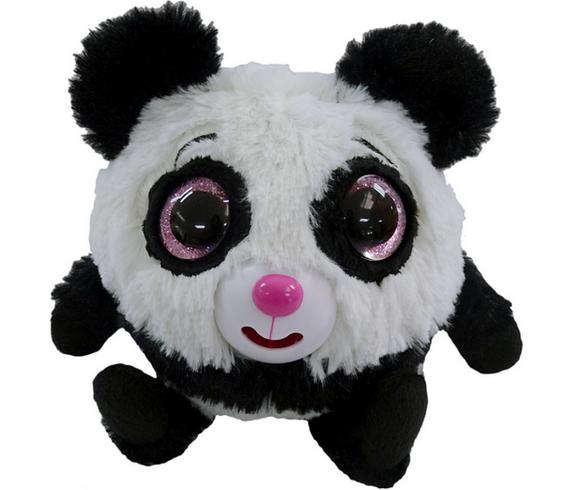 Панда Дразнюка с розовыми глазами.