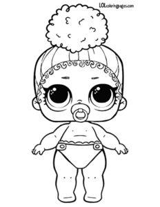 Напечатать и раскрасить куклу lol.