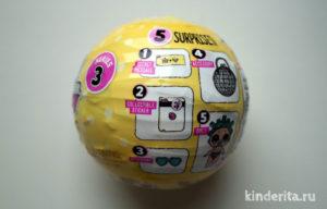 В шарике LOL Lil sisters series 3 спрятано пять сюрпризов.