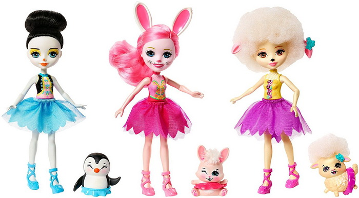 Набор «Милашки балерины» с Лорной Барашкой, Банни Бри и Пингвиной Приной.