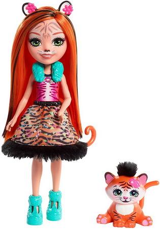 Кукла Энчантималс Тигрица Тэнзи и тигрёнок.