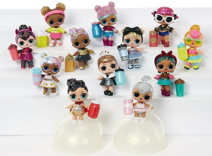 Все куклы ЛОЛ Глиттер вторая серия — картинка и имена героев.