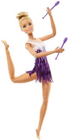 Кукла Барби гимнастка с булавами — безграничные движения.