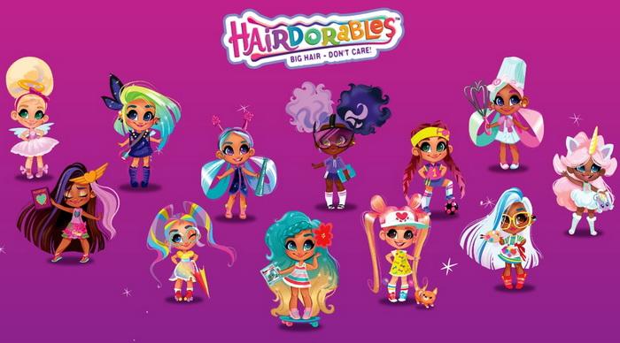 Все герои Hairdorables с именами.