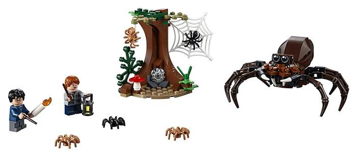 Набор с пауком Арагогом, Гарри и Роном.