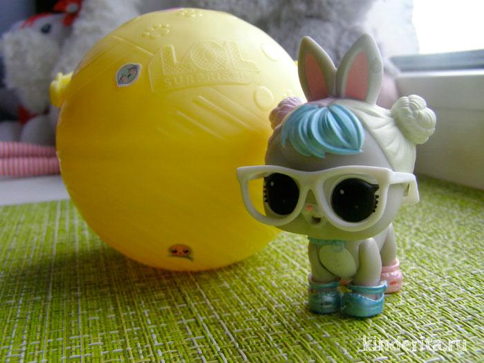Кролик в очках.
