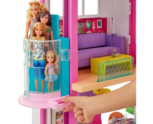Настоящий механический лифт в доме Барби.