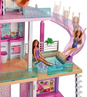 Бассейн с горкой для Барби.