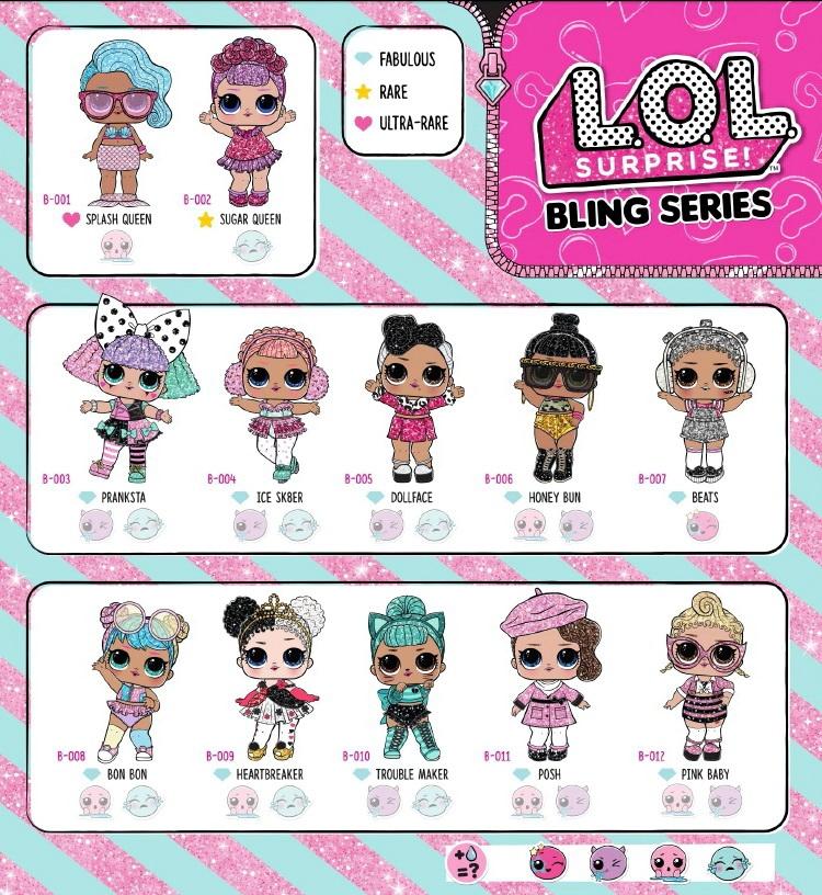 Все куклы серии ЛОЛ Блинг Bling.