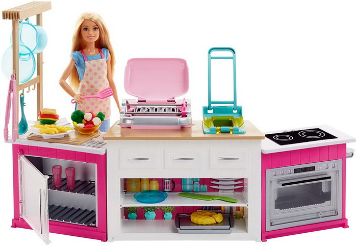 Barbie Kitchen с пластилином Плей до.