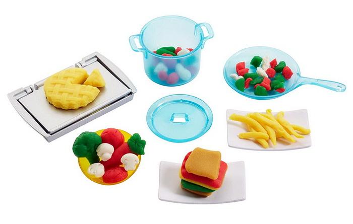 Еду можно слепить из пластилина