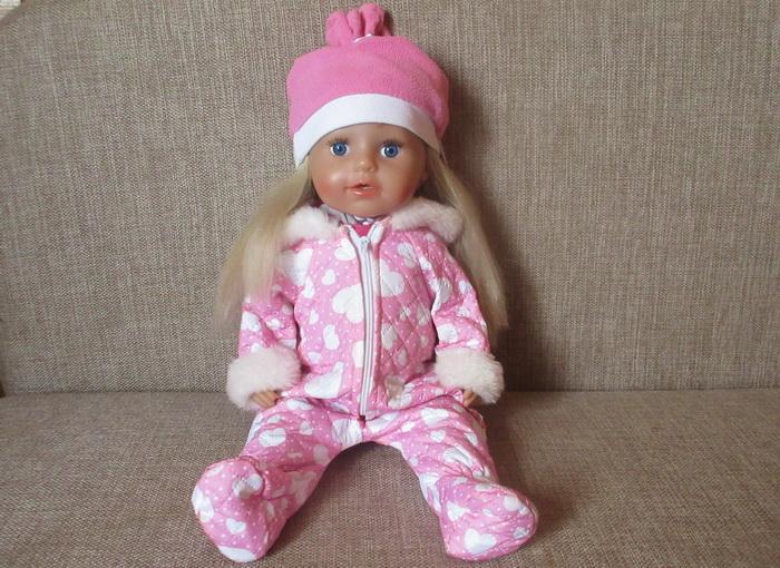 Куколка девочка Бэби Бон в зимней одежде.
