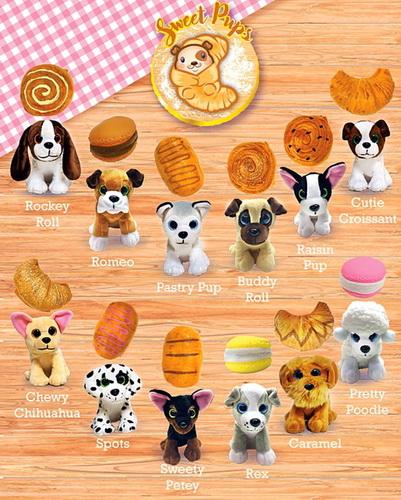 Sweet Pups — вся коллекция игрушек.