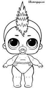 Раскраска Lil Punk Boi.