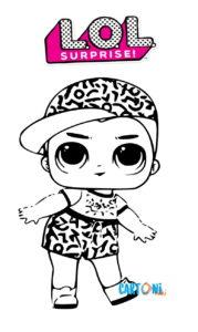 Раскраска с мальчиком ЛОЛ Scribbles.