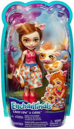 Игрушка кукла коровка с питомцем.