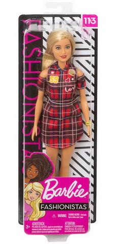 Куколка в клетчатом платье.