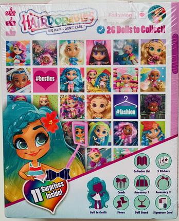 Кукла-загадка с волосами, новая серия в розовой коробке.