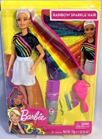 Радужная кукла Барби в коробке.
